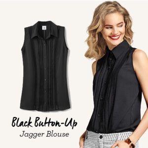 Cabi Black Button Up Jagger Blouse